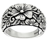 JAI Sterling India Collection Carved Flower Ring - J331251
