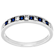 As Is Michael Beaudry 1/10 cttw Diamond & .15ct Sapphire Ring - J331351