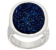 Drusy Quartz Sterling Silver Bold Ring - J331451