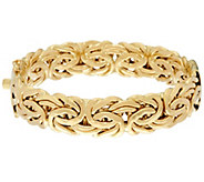 14K Gold Average Bold Byzantine Hinged Bangle, 29.5g - J332251