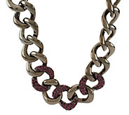 As Is Kenneth Jay Lanes Bold & Pave Oval Crystal Link Necklace - J332951