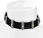 Barbara Bixby Sterling & 18K Pebble Suede Leather Choker Necklace - J335251