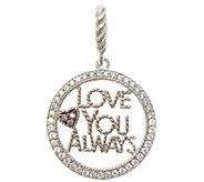Judith Ripka Sterling Diamonique Love You Always Charm - J338551