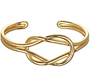 Capwell Goldtone Why Knot Cuff - J340251
