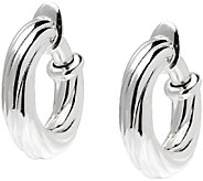 UltraFine Silver 3/4 Twisted Clip-On Hoop Earrings - J340951