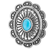 American West Treasures Turquoise MagneticConcha Insert - J342451