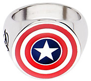 Marvel Stainless Steel Captain America Logo Ring - J343051