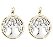 Solvar Two-Tone Celtic Family Tree Drop Earrings, 14K - J343551