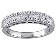 Princess & Round Diamond Band Ring, 14K, 1/2 cttw, by Affinity - J343751