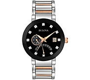 Bulova Mens Diamond Accent Bracelet Watch - J343951