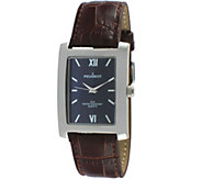 Peugeot Mens Blue Dial Leather Watch - J344551