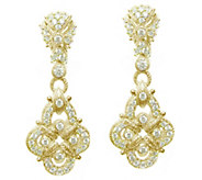 Judith Ripka 14K Clad & Diamonique Pave Earrings - J344651