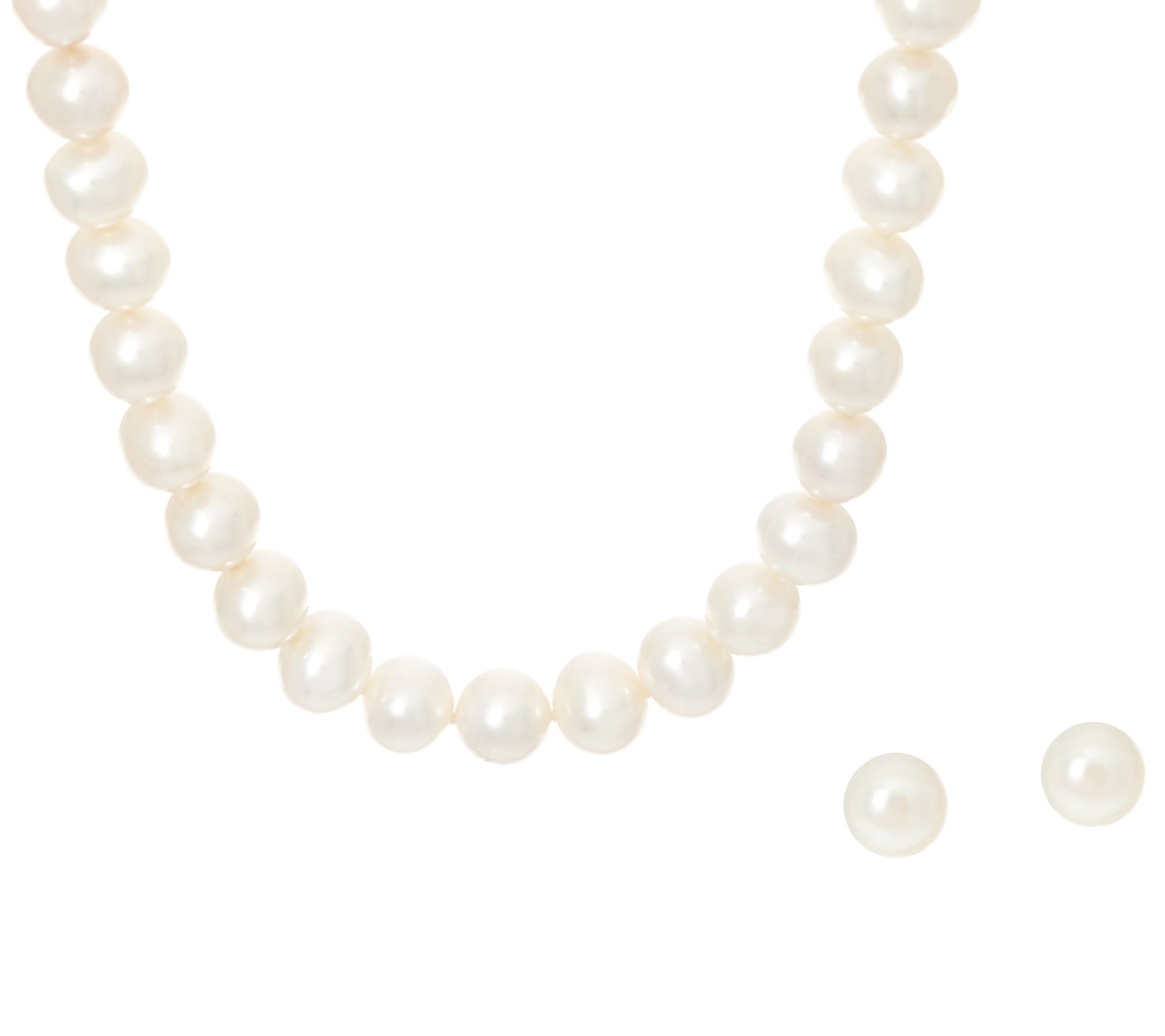 Honora Cultured Pearl Necklace & Earring Set, Sterling  J346451