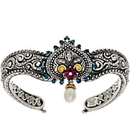 Barbara Bixby Sterling & 18K 1.00 cttw Maharani Muse Cuff Bracelet - J346951