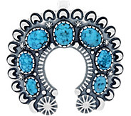 American West Sterling Silver Kingman Turquoise Naja Enhancer - J347051