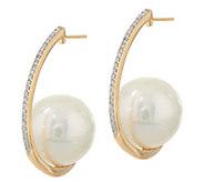Honora Ming Cultured Pearl & Diamond Hoop Earrings, 14K - J347651