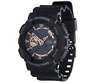 G-Shock Mens Analog Digital Rosetone Black Resin Watch - J347851
