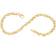 Italian Gold 6-3/4 French Rope Bracelet 14K Gold, 2.1g - J349351