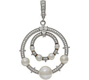 Judith Ripka Sterling Silver Cultured Freshwater Pearl Enhancer - J350451