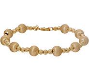 Italian Gold 8 Satin Bead Bracelet 14K 7.5g - J350651