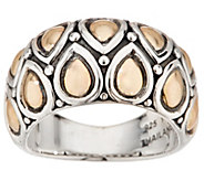 JAI Sterling Silver & 14K Gold Lotus Petal Band Ring - J354951