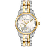 Bulova Womens Diamond Two-tone Heart Watch - J375151
