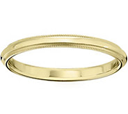 Mens 14K Yellow Gold 2.5mm Milgrain Wedding Band - J375551