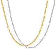 Judith Ripka Sterling or 14K Clad Link Necklace - J55651