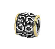 Prerogatives Sterling and 14K Gold Barrel Bead - J108452