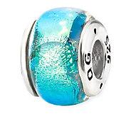 Prerogatives Sterling Blue Dichroic Glass Bead - J113352