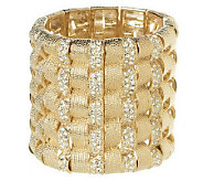 Melania Bold Textured Stretch Bracelet with Crystal Accents - J266152
