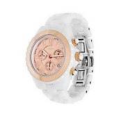 As IsVicence White Ceramic Chronograph Watch, 14K Gold - J269452