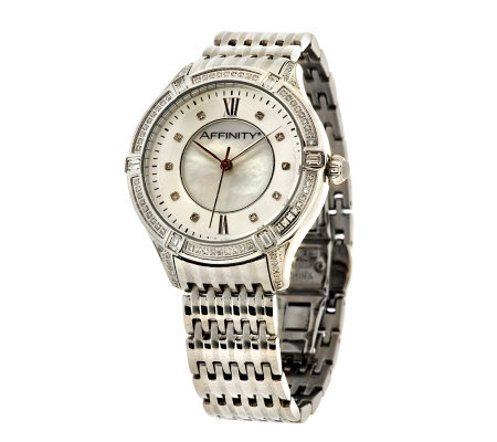 Diamond Bracelet Watch, Stainless Steel 1/2 cttw by Affinity