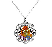 As Is Artisan Crafted Sterling Flower Pendant with 18 Chain - J286652
