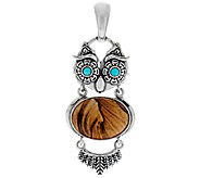 American West Sterling Owl Gemstone Enhancer - J290852