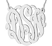 Sterling 1-1/4 Personalized Script MonogramNecklace - J308052