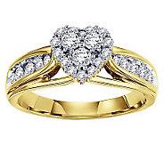 Affinity Diamond 5/8 ct tw Heart Cluster DesignRing, 14K - J311352