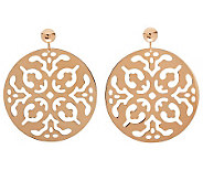 Bronzo Italia Polished Cutout Disc Dangle Earrings - J311752