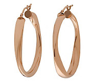 Bronze 1-1/2 Round Twisted Hoop Earrings by Bronzo Italia - J312952