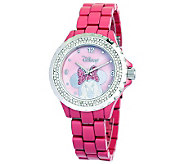 Disney Womens Minnie Pink Enamel Watch - J315552