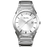 Bulova Mens Stainless Steel Bracelet Watch - J316452