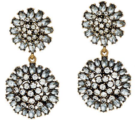 Baublebar Crystal Dandelion Drop Earrings Qvc Com