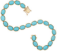 Sleeping Beauty Turquoise 7-1/4 Tennis Bracelet 14K Gold - J324752