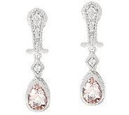 Judith Ripka Morganite Estate Earrings - J326052