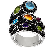 Judith Ripka Sterling Black Spinel & Multi-Gemstone Ring - J326152