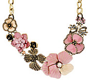 Joan Rivers Charming Blooms Enamel & Pave Bib Necklace - J327552