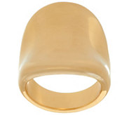 Bold Polished Concave Tapered Ring, 14K - J328452