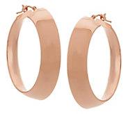 As Is Vicenza Gold 1-1/2 Polished Mirror Hoop Earrings, 14K - J330752