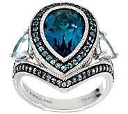 Judith Ripka Sterling Silver 6.00 cttw Blue Topaz & Aquamarine Ring - J331152