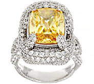Judith Ripka Sterling Yellow Diamonique Ring 16.05 cttw - J331752